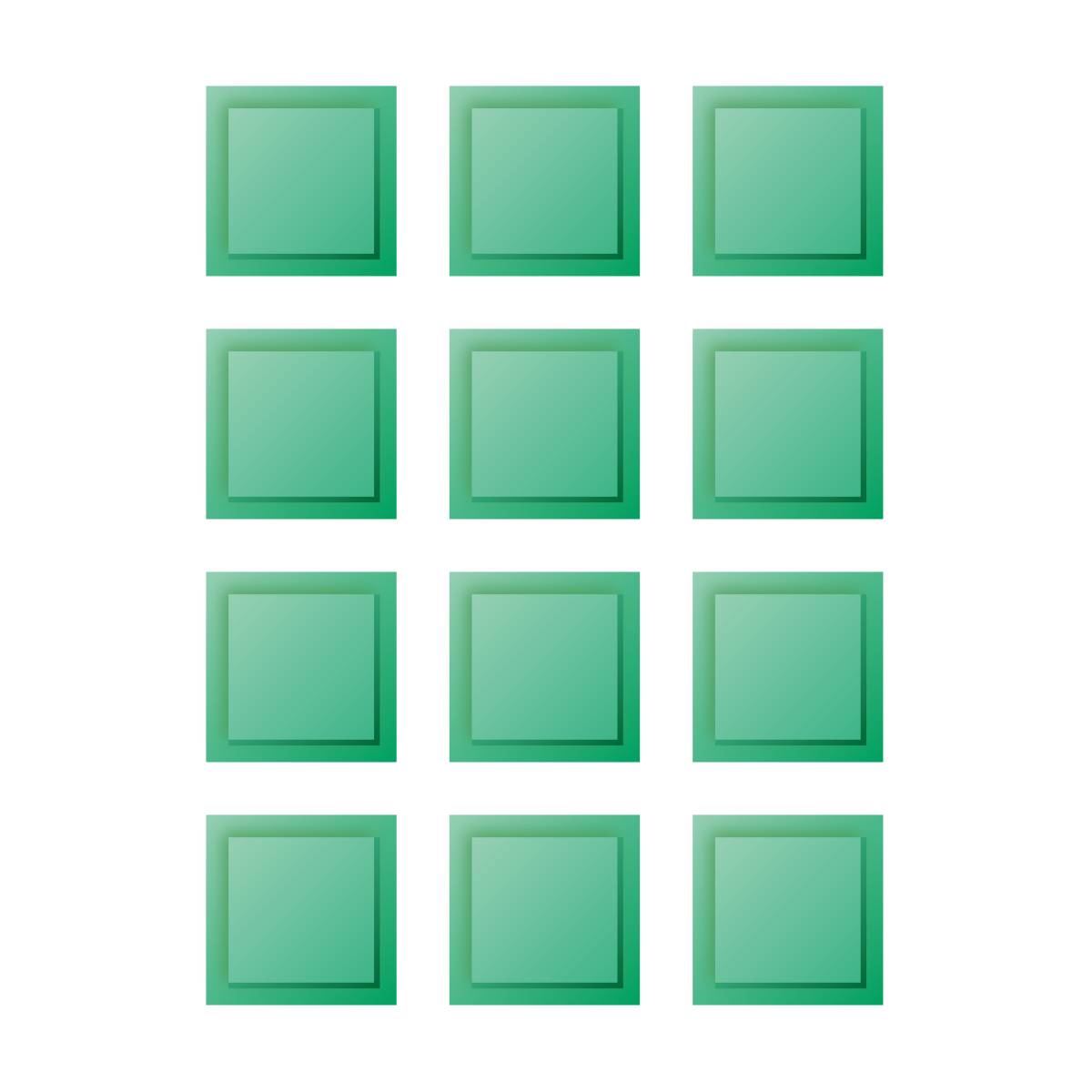 3×4 rectangle